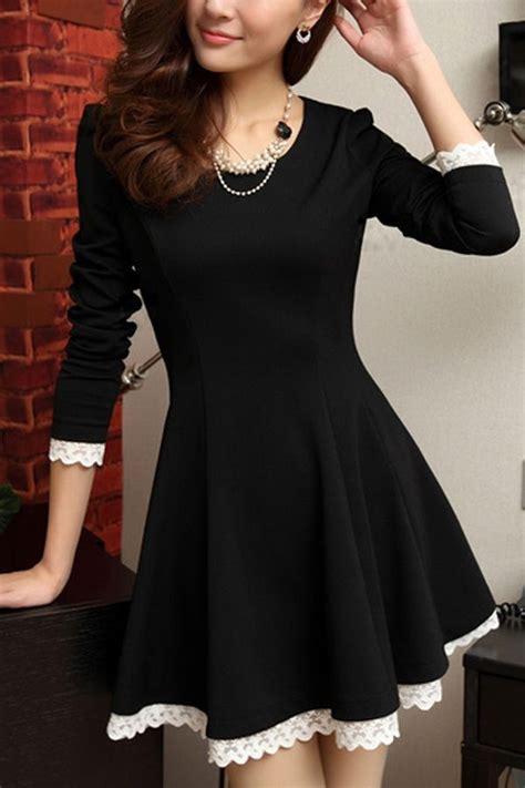 Sleeve Trim A Line Dress lace up trim sleeve a line dress sleeve a