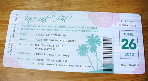 Plane Ticket Wedding Invitation Template