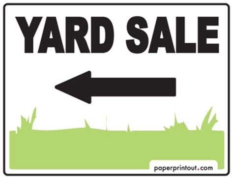 yard sale signs download a free printable sign