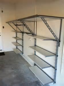 Metal Garage Storage Ideas Adjustable Diy Steel Garage Shelves Home Interiors