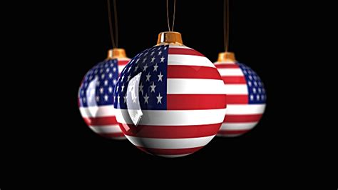 christmas ornaments with usa flag stock footage video