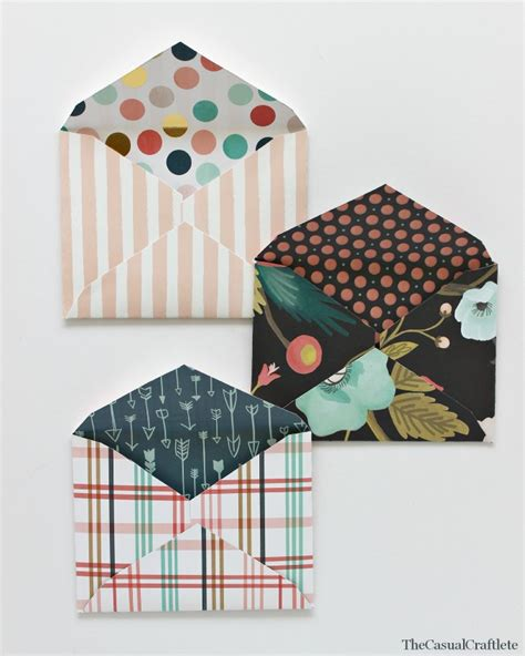 Diy Crafts With Scrapbook Paper - diy envelopes plus free printable hello card