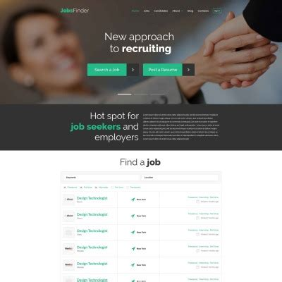 job portal responsive website template 57619 by wt job portal templates templatemonster