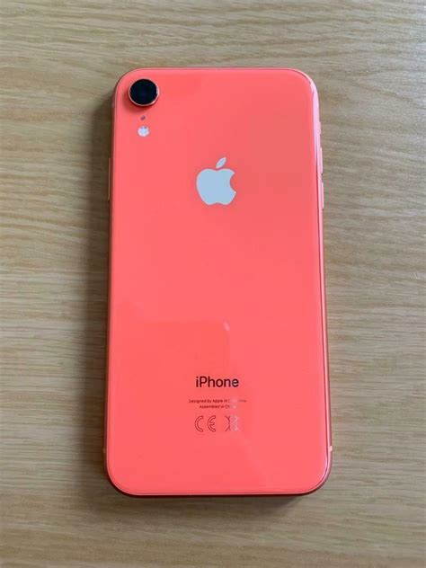 iphone xr gb coral colour pinkorange unlocked