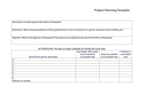 48 Professional Project Plan Templates Excel Word Pdf ᐅ Template Lab Project Plan Template Word