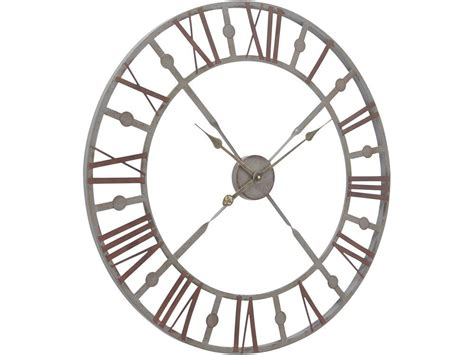 Country Style Mirrors Home Decor Skeleton Wall Clock Vintage Metal Skeleton Clock