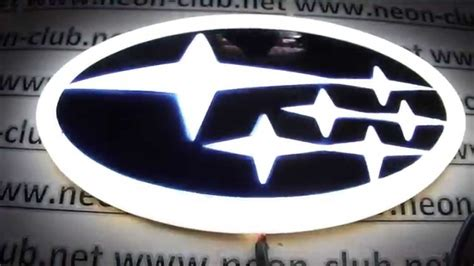 custom subaru emblem subaru legacy tribeca subaru light led driving
