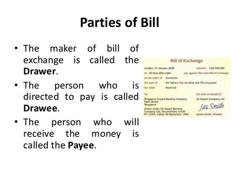 Bill Of Exchange Drawer by Bill Of Exchange Environment Of Business