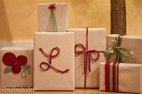 cheap gift wrap ideas inexpensive gift wrap ideas using yarn the shady acre