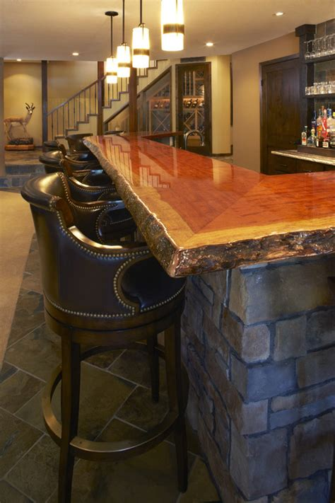 Wood Bar Top by Paramount Granite 187 Bar Tops