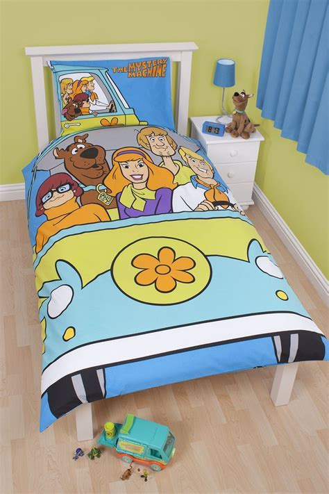 scooby doo curtains bedroom bedrooms scooby doo fabric bed cover featuring white