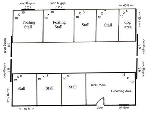 floor plans for barns barn floor plans 6 stall barn with storage space 2400 sq