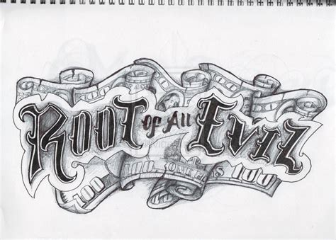 root of all evil tattoo root of all evil by akadrowzy on deviantart