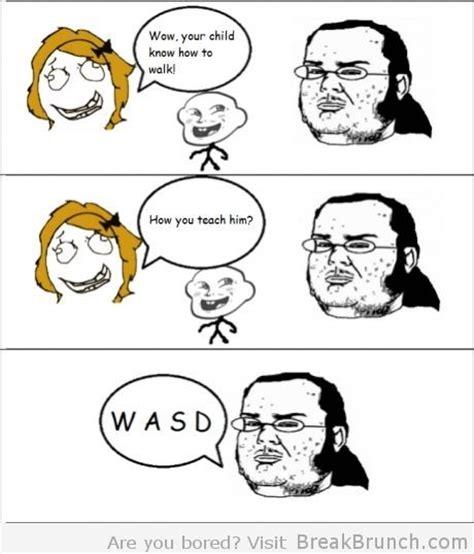 Funny Memes Comic - w a s d rage comics pinterest
