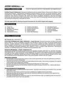Payroll Processor Sle Resume by Payroll Manager Resume Getessay Biz