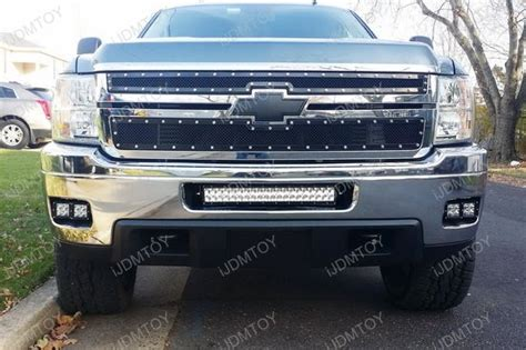 Led Light Bar Silverado 120w Led Light Bar W Mount Bracket Fit 11 14 Chevy Silverado 2500 3500hd Ebay