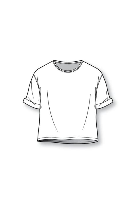 Drawing T Shirt by Boxy T Shirt Patternmaking Fashion Design Sketches