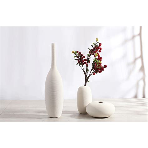 simple modern porcelain decorative vase white ceramic
