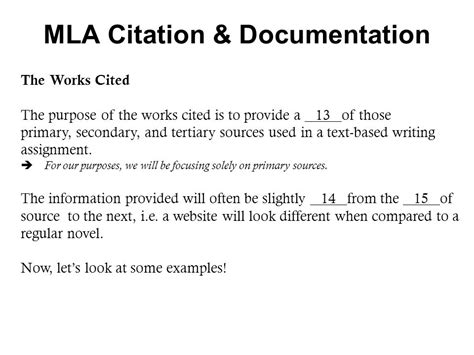 How To Cite A Document In Mla