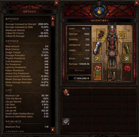 Diablo Iii Best Barbarian Legendary And Set Items In   diablo 3 barbarian immortal set items rules