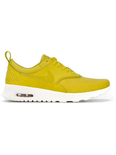 nike thea sneakers nike yellow air max thea premium sneakers lyst