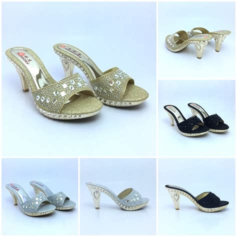 jual shh735 gold sepatu pesta elegan 7cm grosirimpor