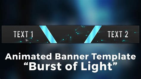Minecraft Server Banner Template Gif Quot Burst Of Light Quot Youtube 468x60 Banner Template