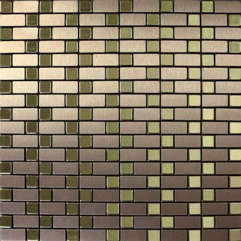 metallic tiles backsplash metallic mosaic tile backsplash brushed gold