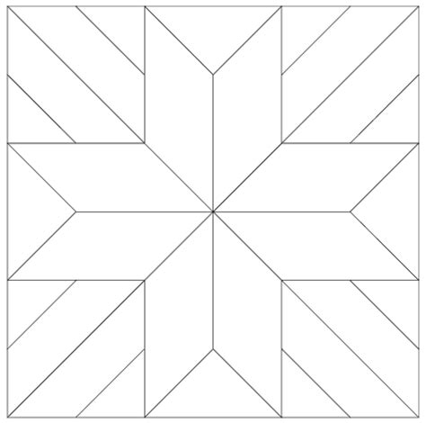 Free Patchwork Templates - imaginesque quilt block 6 pattern and templates