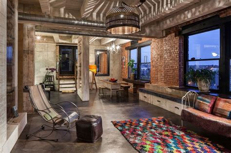 Industrial Interiors Home Decor Colorful Eclectic Industrial Home Design Located In Portland Usa