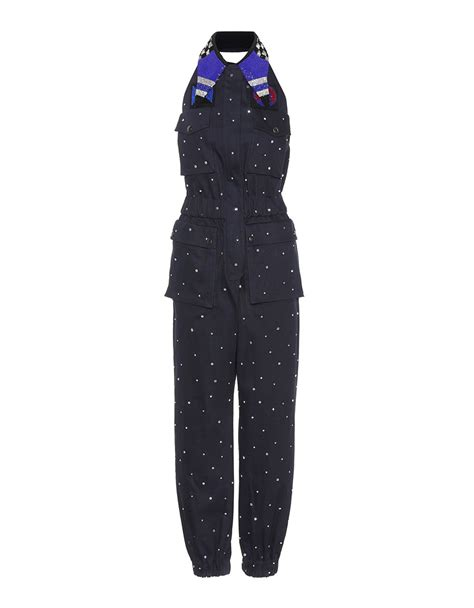 Miu Jumpsuit miu miu embellished cotton blend jumpsuit 183 vergle