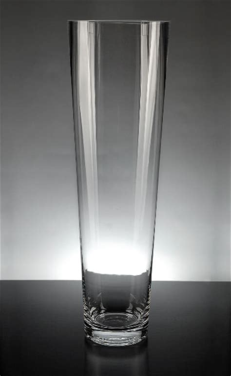 16 Inch Cylinder Vases by Tapered Clear Glass Cylinder 16 In