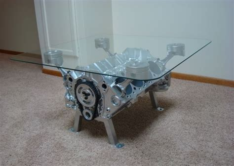 engine block coffee table to add creative detail in your