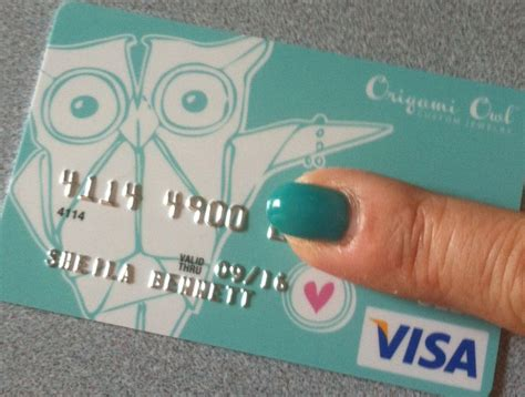 Payquicker Origami Owl - received my origami owl branded visa card in the mail isn