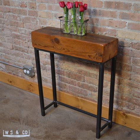 Reclaimed Beam Entry Table 24 Quot Reclaimed Wood Metal