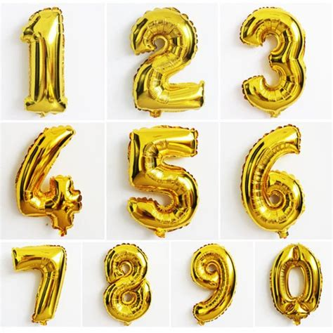 Number Balloon 40 inch gold number balloon number 1 9 balloon gold foil