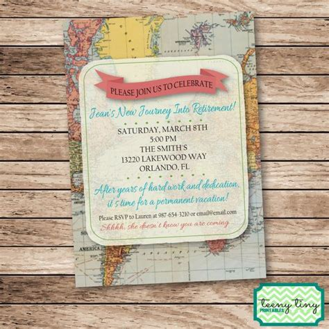 themes facebook permanent permanent vacation retirement party by teenytinyprintables