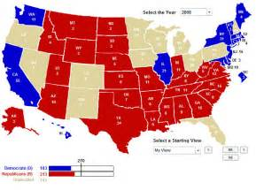 us map of republican and democratic states electoral vote maps from 270towin political maps