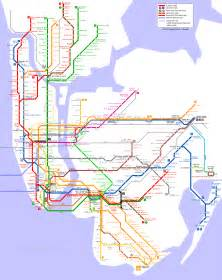 Subway Map Ny by New York Map Detailed City And Metro Maps Of New York