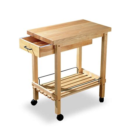 butchers block trolley with drawers dauhaus cart with drawer