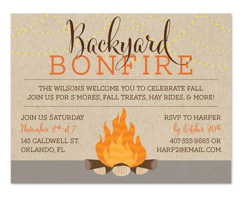 backyard birthday party invitations backyard bonfire party invitations by invitation