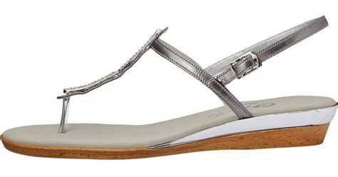 Tara Wedges In Silver onex tara in metallic lyst