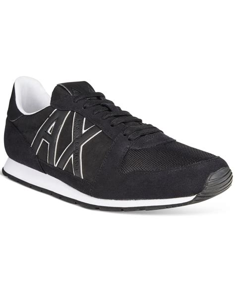 armani sneakers mens armani exchange s ax jogger sneakers in black for