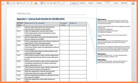 audit procedure template 5 audit report template iso 9001 progress report
