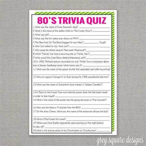 printable quiz games for adults 80 s trivia quiz game trivia quiz trivia and 80 s