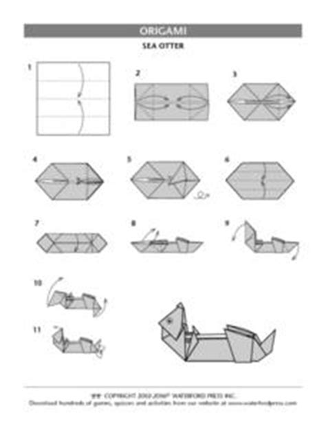 Origami Lesson Plans - sea otter origami directions lesson plan otters