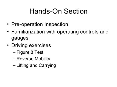 section 8 mobility program lift truck operator training program by hbaa
