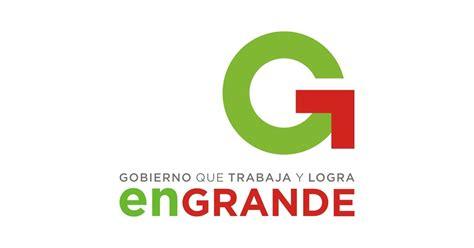 Y Logo gobierno que trabaja y logra en grande logo