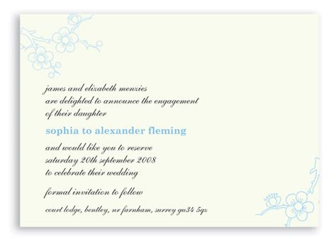 Wedding Invitation Notice by Email Invitations Occasions