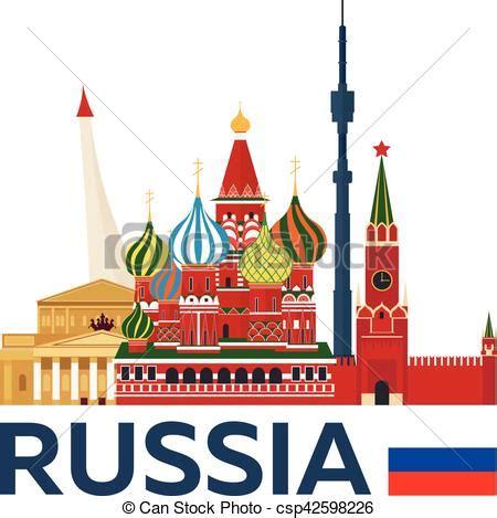 illustration., kremlin., voyage, vecteur, skyline., russie
